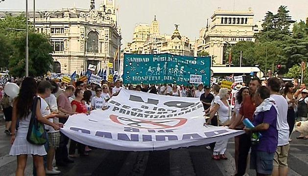Protesta a favor de la sanidad pública