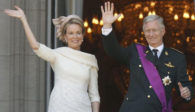 La reina Mathilde y Felipe de Sajonia-Coburgo.