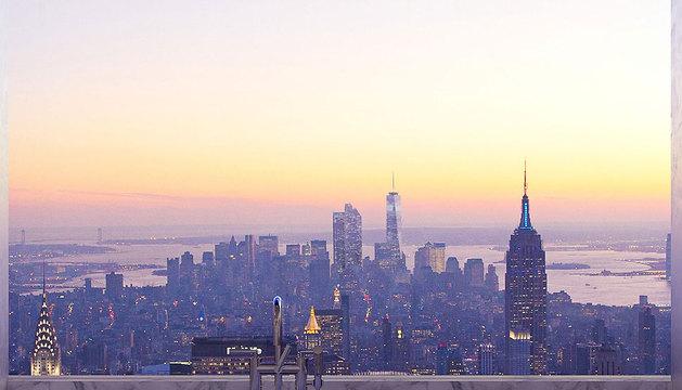 Vistas de Nueva York desde un edificio.