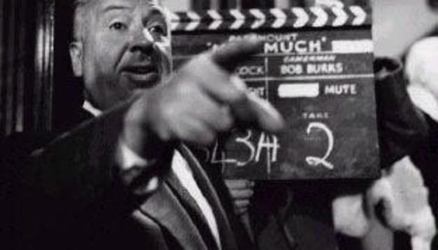 El director de cine Alfred Hitchcock