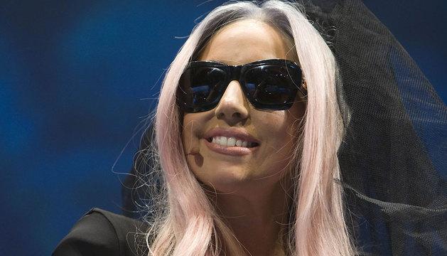 Lady Gaga, en una rueda de prensa en 2011.