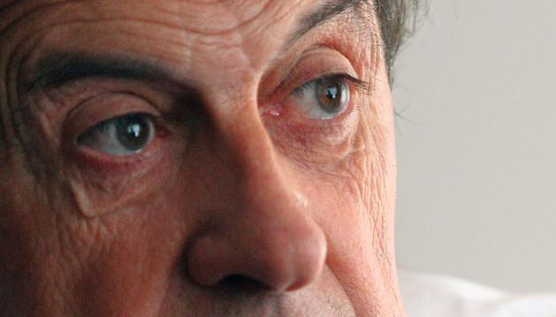 Miguel Archanco Taberna, abogado pamplonés de 64 años, durante la entrevista