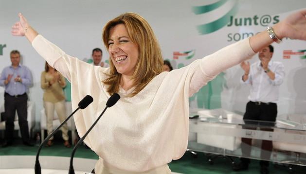 Susana Díaz tras su discurso