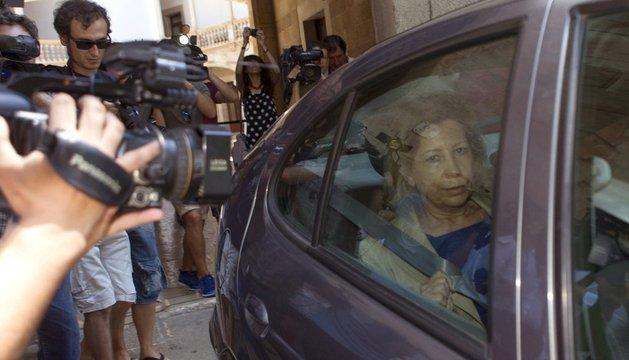 Maria Antònia Munar abandona la Audiencia de Palma tras la vista en la que se ha decidido su ingreso inmediato en prisión