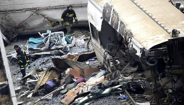 Un tren Alvia que unía Madrid y Ferrol ha descarrilado este miércoles cerca de Santiago de Compostela