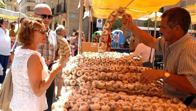 Feria del Ajo en Falces en 2012.