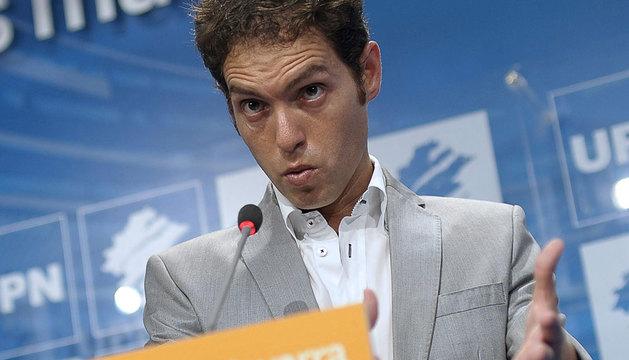 El secretario de Organización y Comunicación de UPN, Sergio Sayas.