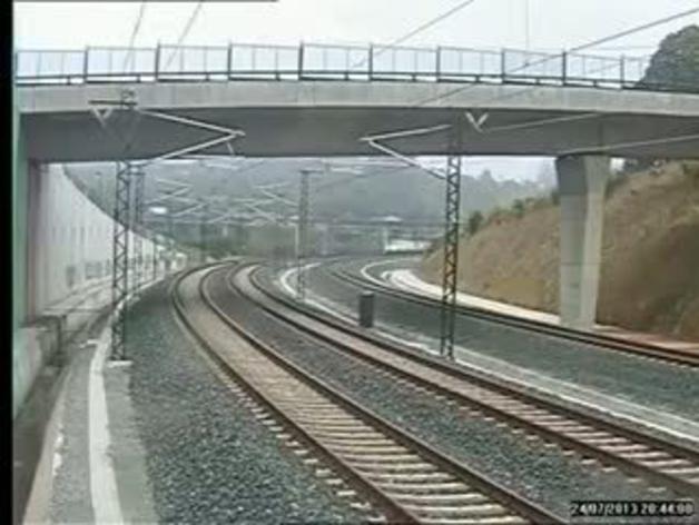 Vídeo de cómo descarriló el tren en Santiago