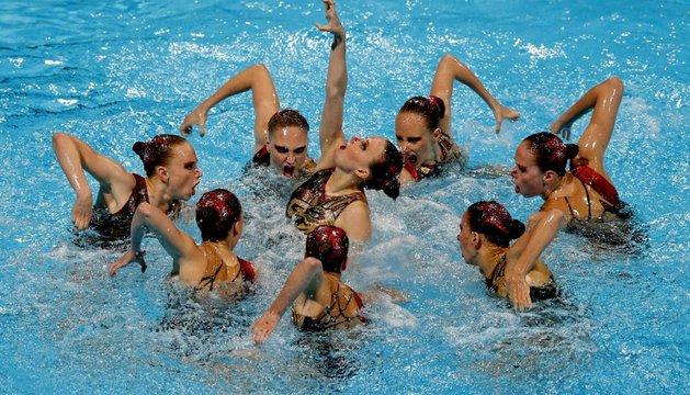 El equipo ruso, en la final del libre por equipos