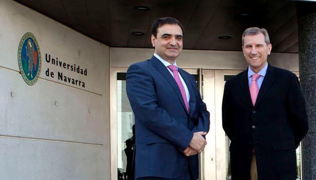 De izquierda a derecha, Jesús M. Hernández y Francisco Errasti.