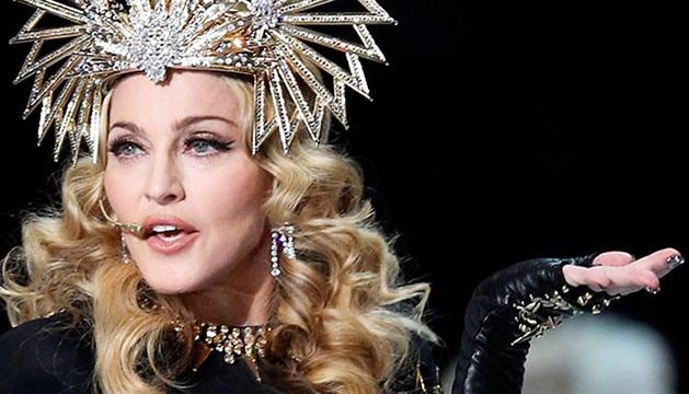 Madonna, durante uno de sus conciertos.