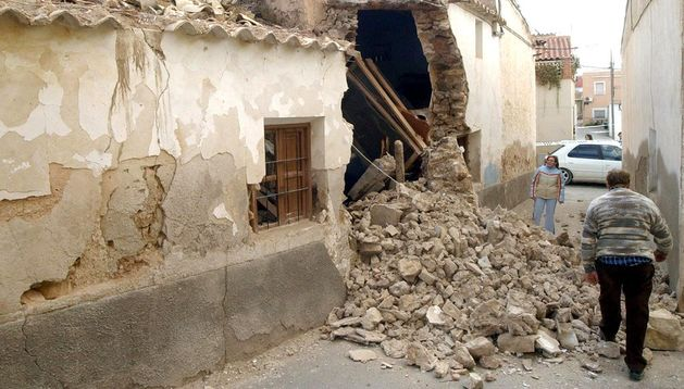 Daños ocasionados por un terremoto.