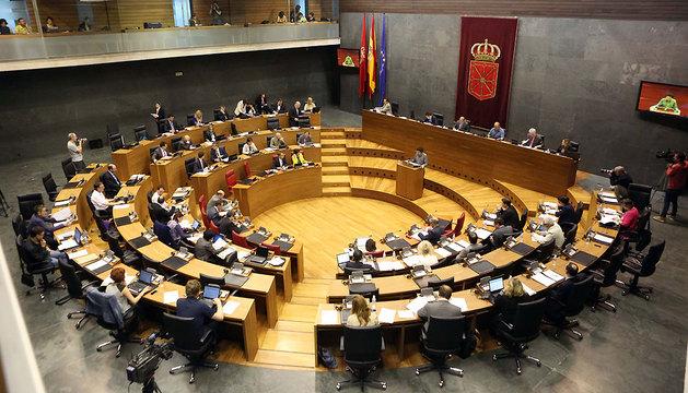 El Parlamento de Navarra, celebrando una sesión plenaria.
