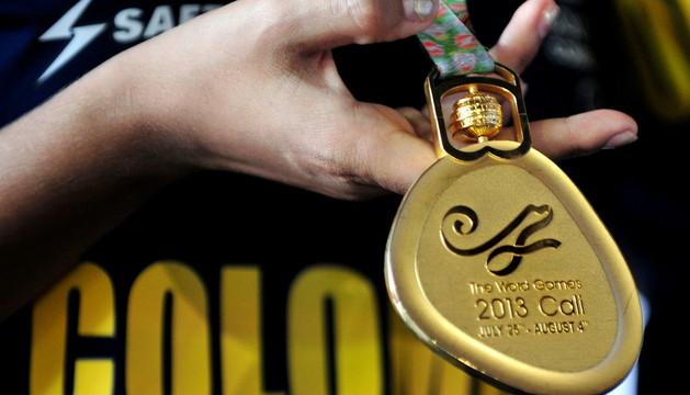 Detalle de una de las medallas ya entregadas.