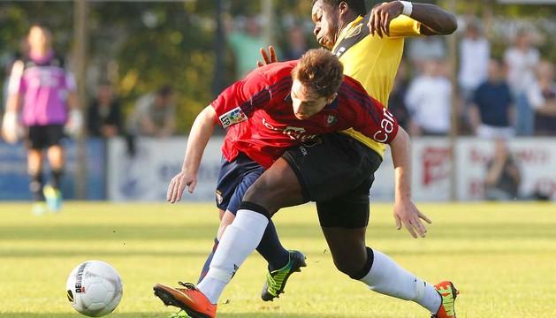 Sisi, en el partido amistoso que enfrentó a Osasuna contra el NAC Breda