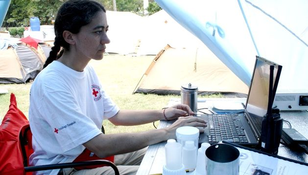 Esperanza Ursúa, delegada de Cruz Roja Navarra.