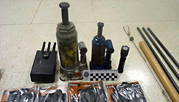 Material intervenido en la operación.