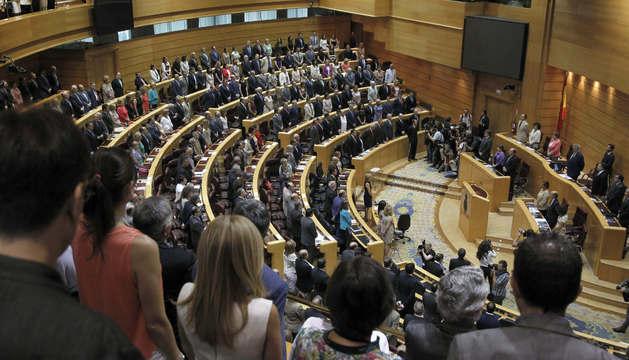 El Congreso, durante el minuto de silencio.