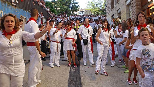 La tradicional 'bajadica' del Puy.