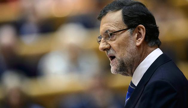 Mariano Rajoy, durante su comparecencia en el pleno del Congreso.