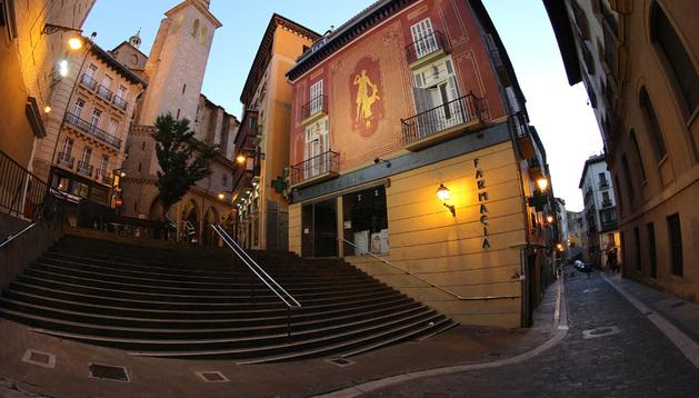 Escaleras donde se produjo el accidente mortal, entre San Saturnino y Santo Domingo.