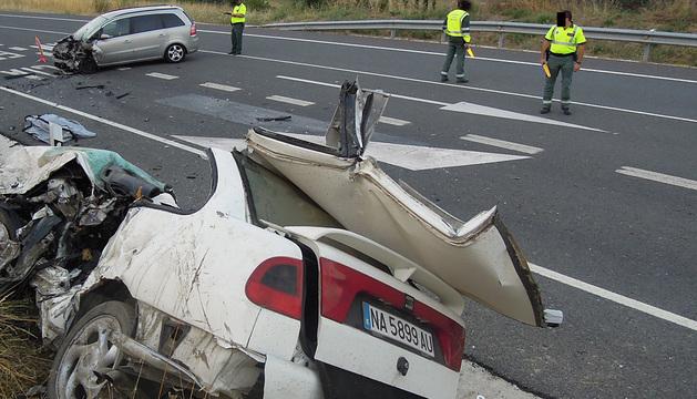 Accidente en Ostiz