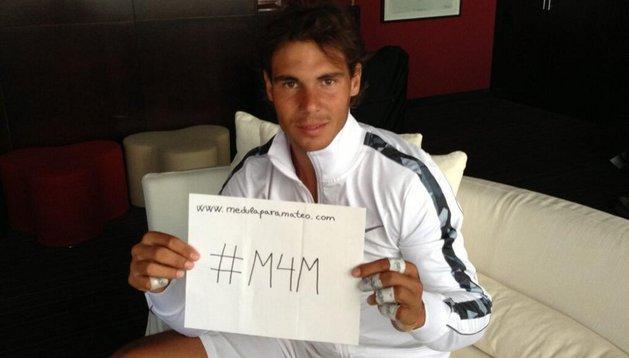El tenista Rafa Nadal apoya la iniciativa #MedulaParaMateo