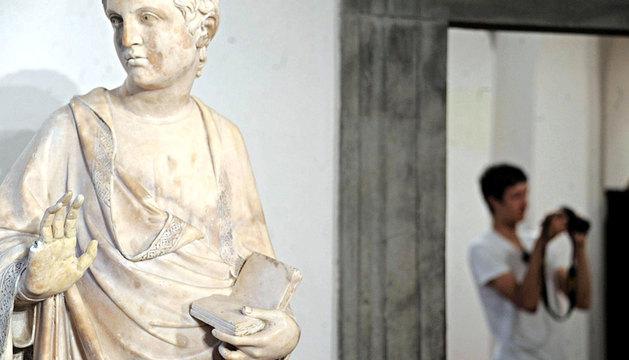 La estatua dañada en el Museo del Duomo en Florencia.