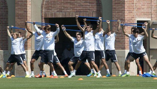 El Real Madrid, entrenando durante su gira en Estados Unidos