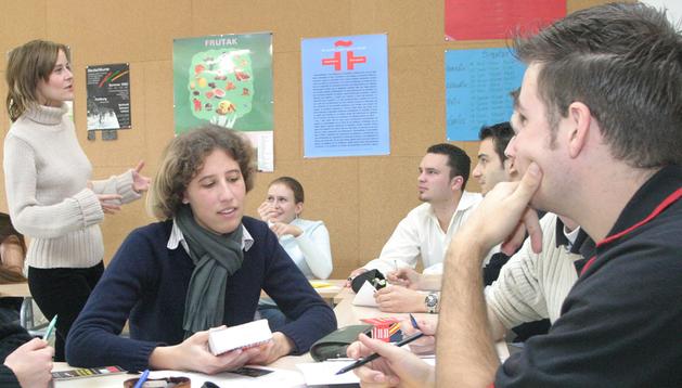 Imagen de una clase en el Centro de Idiomas.