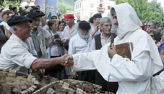 Celebración del Día del Hierro en Urdax en 2012.