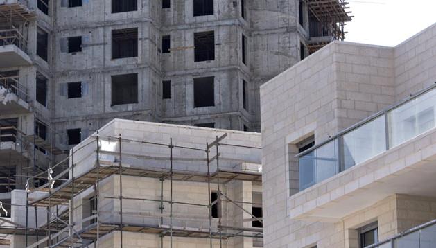 Viviendas que se están construyendo en Jerusalem