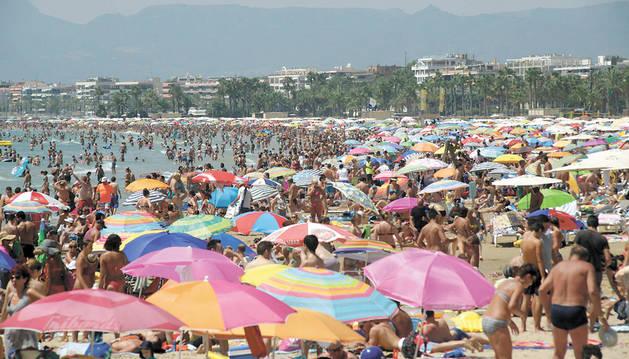Playa de Levante, en Salou.