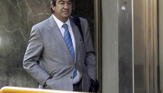 El ex secretario general del PP Francisco Álvarez-Cascos, a su llegada a la Audiencia Nacional.