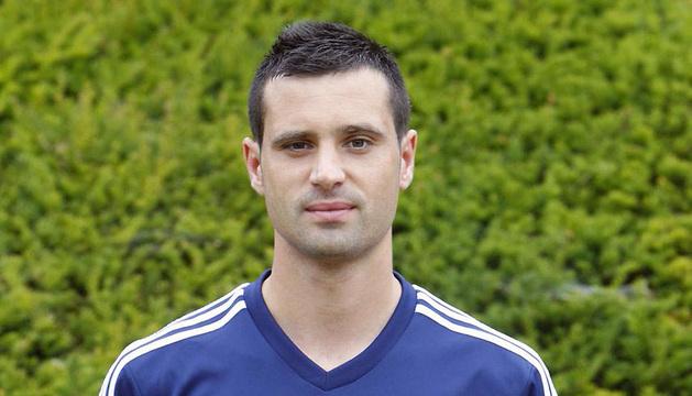 Miguel Flaño, con la equipación de la temporada 2013-14.