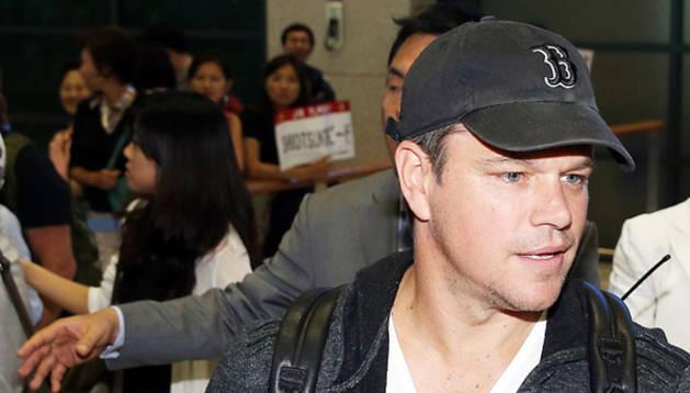 El actor Matt Damon a su llegada a Sydney para promocionar