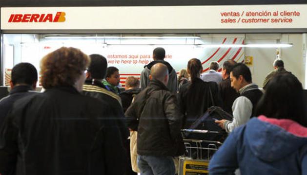 En una huelga de Iberia