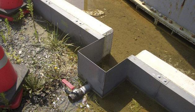 Fotografía facilitada por TEPCO de uno de los desagües de la planta.