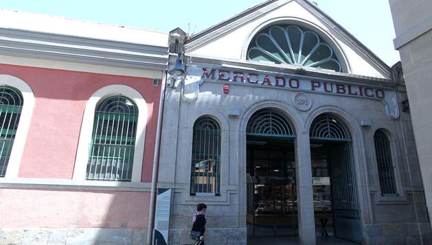 Fachada del mercado de Santo Domingo.