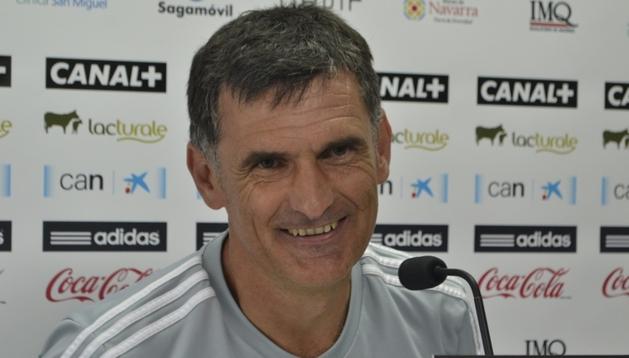José Luis Mendilibar, entrenador de Osasuna, este jueves en Tajonar