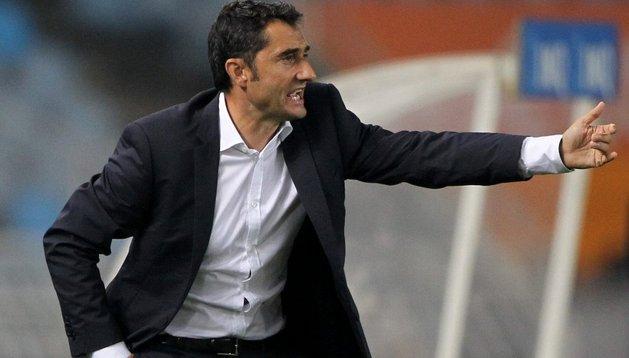 Ernesto Valverde, durante el partido entre Athletic y Osasuna