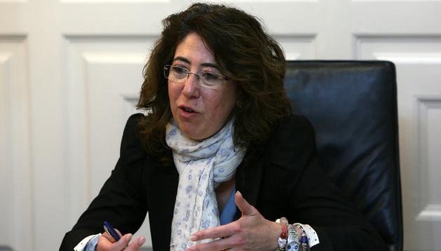 Carmen Alba en una entrevista que concedió a Diario de Navarra.