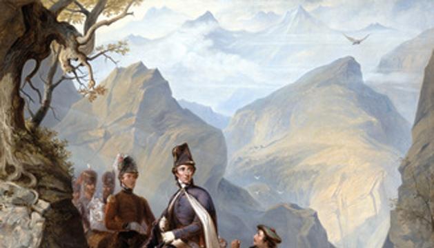 Wellington at Sorauren (Wellington en Sorauren), cuadro de Thomas Jones Barker