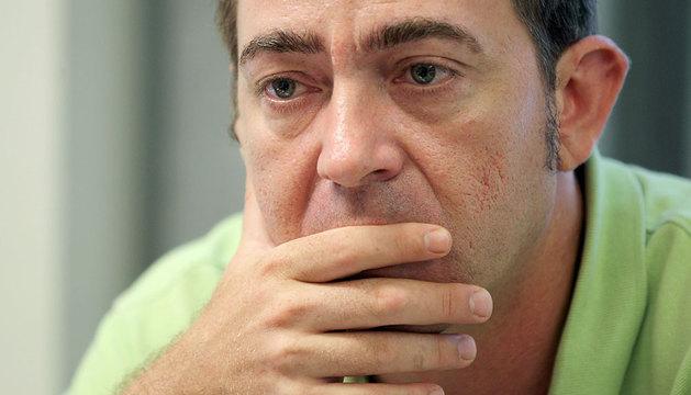 El secretario general socialista, Roberto Jiménez, durante una entrevista hace dos semanas.