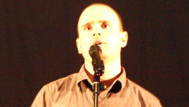 Javier Sesma durante su actuación.