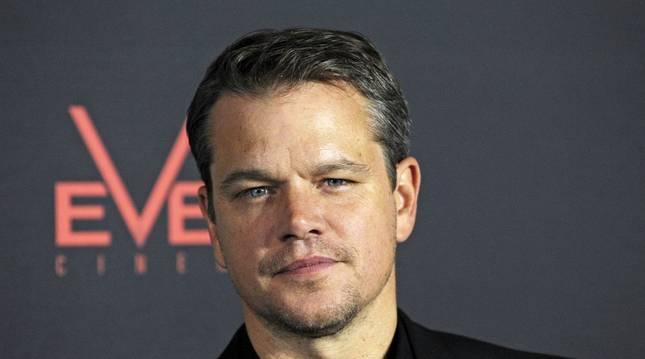 El actor estadounidense Matt Damon asiste a la presentación de su película