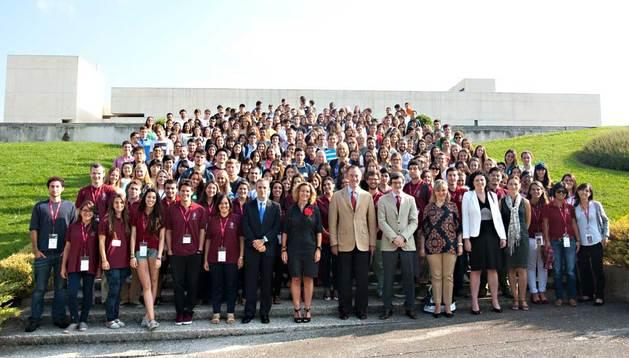 Fotografía de los alumnos internacionales de este curso en la Universidad de Navarra.
