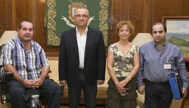 Recepción en el Ayuntamiento de Pamplona