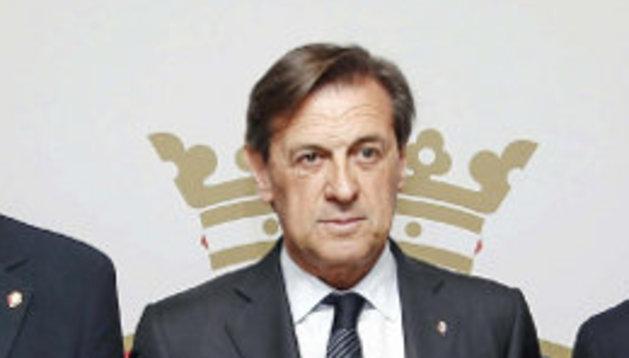 La actual junta directiva de Osasuna. En la imagen falta el directivo Sancho Bandrés