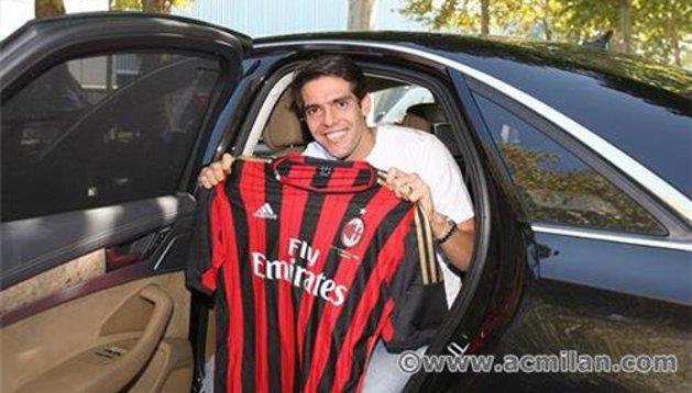 Kaka, con la camiseta del Milan